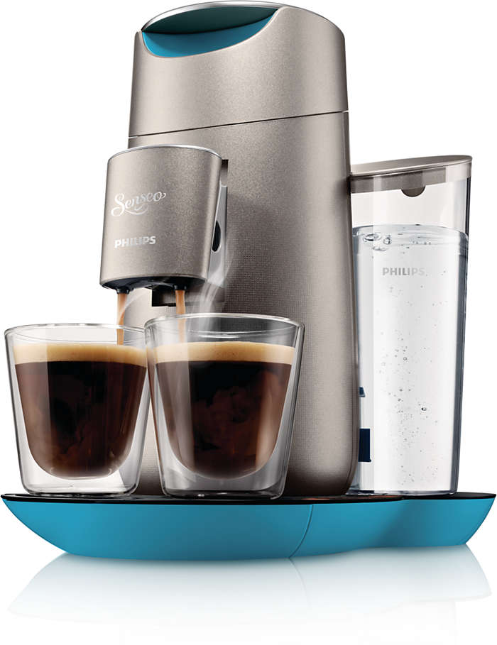 Delicious coffee at the touch of a button