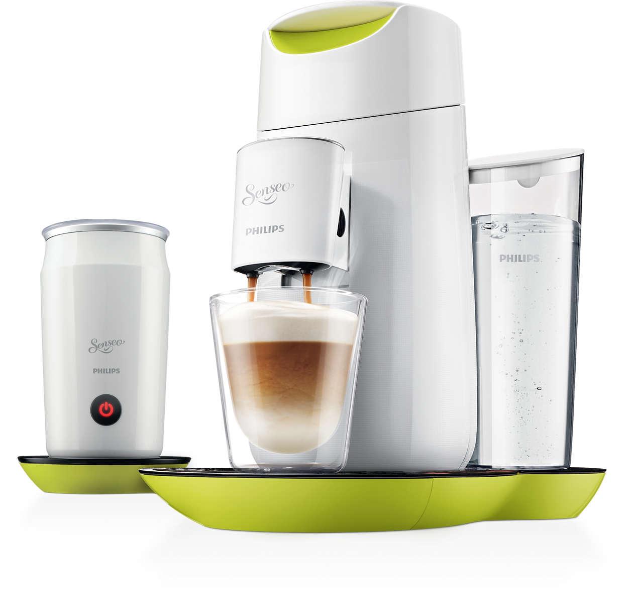 twist milk kaffeepadmaschine und milchaufsch umer hd7874. Black Bedroom Furniture Sets. Home Design Ideas