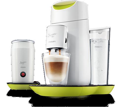 twist milk kaffeepadmaschine und milchaufsch umer hd7874 10 senseo. Black Bedroom Furniture Sets. Home Design Ideas