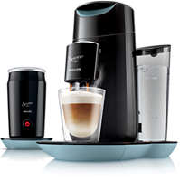 Koffiezetapparaat met melkopschuimer