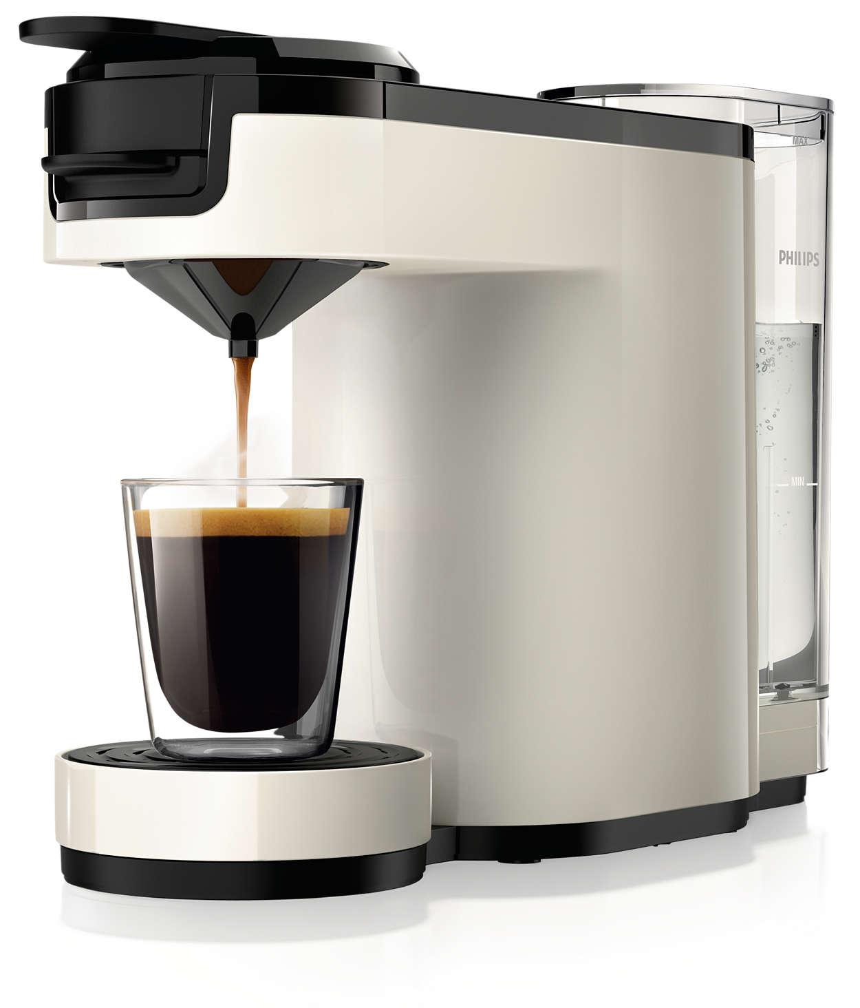 Deilig, intens kaffe bare ved å trykke på en knapp