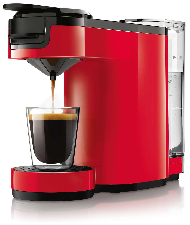 Lækker, stærk kaffe med et tryk på en knap
