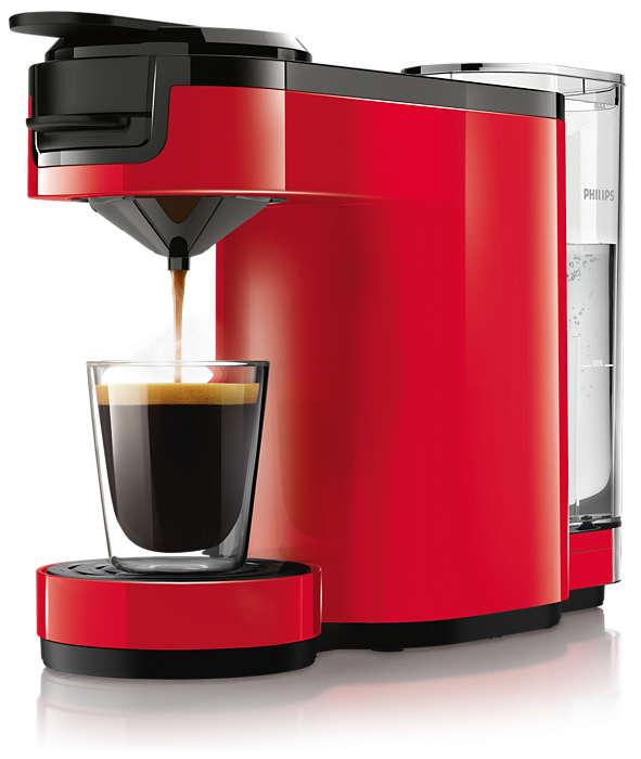 Pompás, intenzív kávé egyetlen gombnyomással