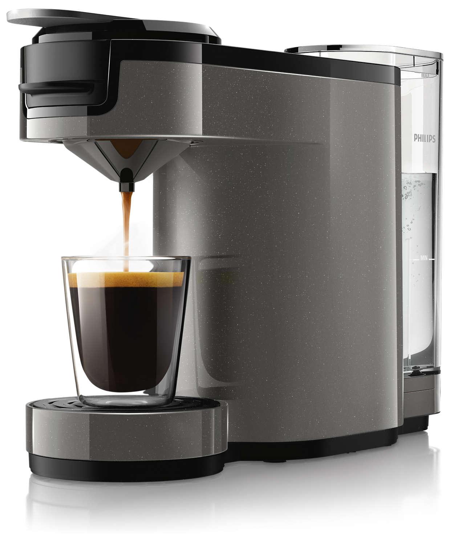 Un café au goût intense à la simple pression d'un bouton