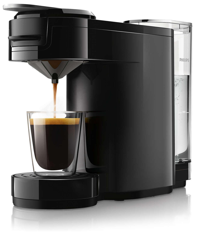Köstlicher, intensiver Kaffee auf Tastendruck