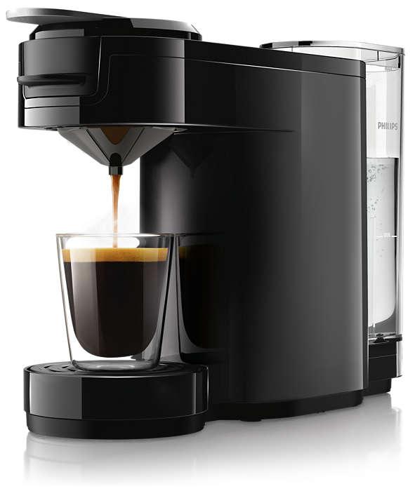 Gott, smakrikt kaffe med en enkel knapptryckning