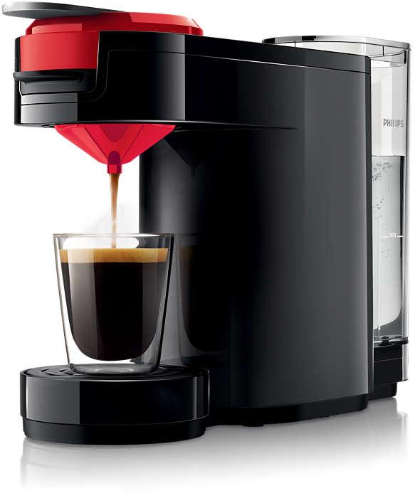 Verrukkelijke, intense koffie met één druk op de knop