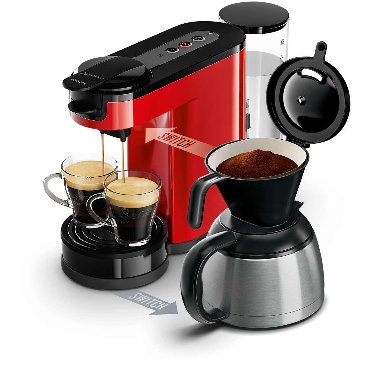 switch machine caf dosettes et filtre hd7892 81 senseo. Black Bedroom Furniture Sets. Home Design Ideas
