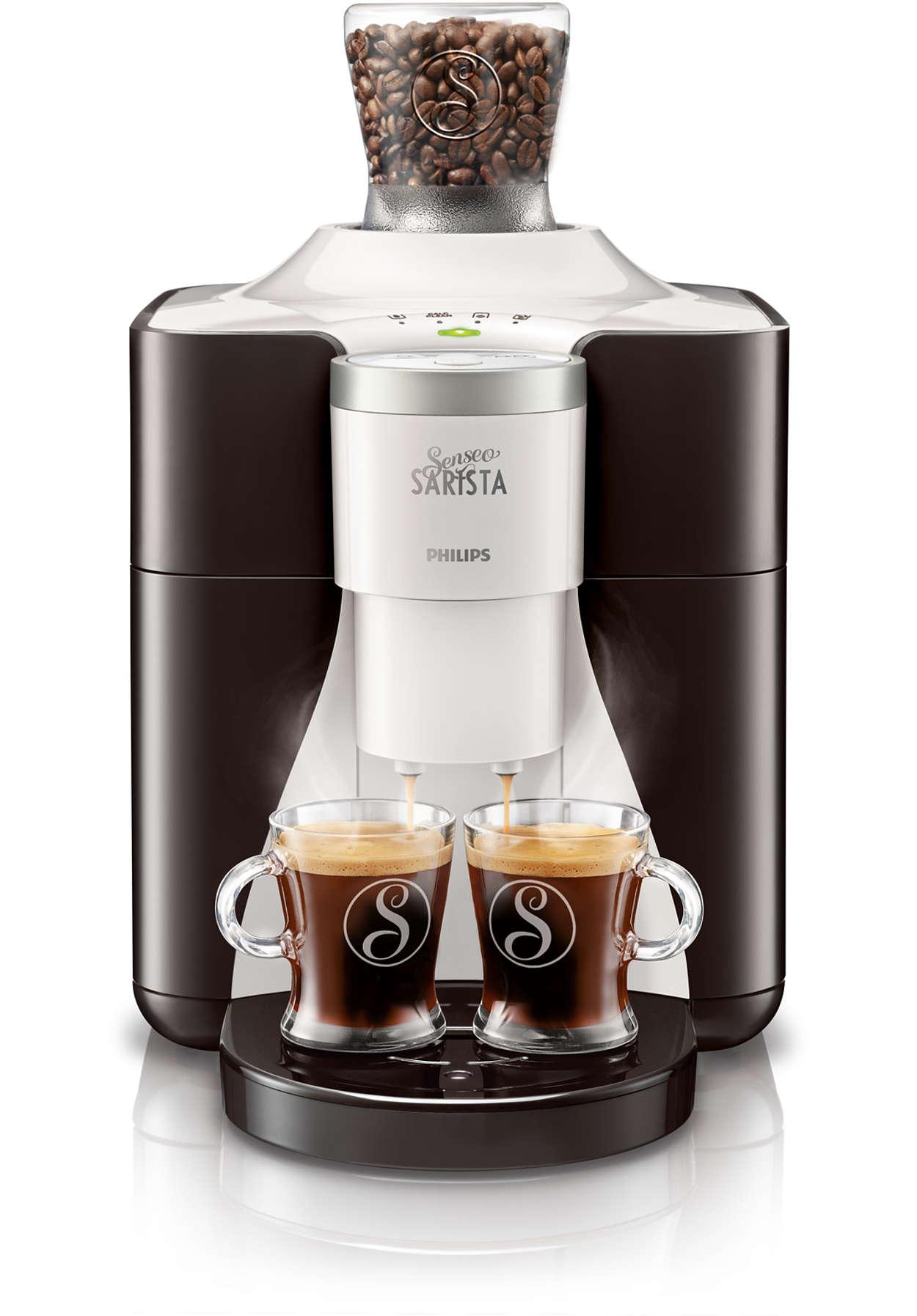 Changez la variété de grains de café de la SENSEO® SARISTA
