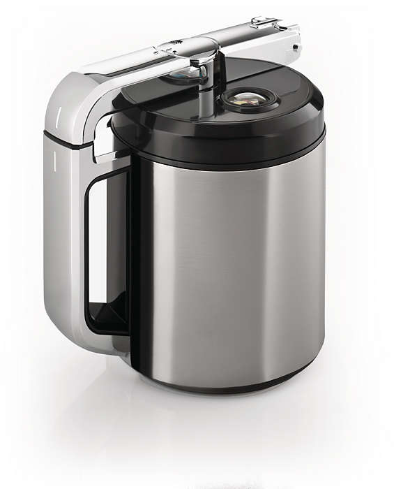Integrierte Milchkaraffe für tollen Schaum