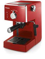 Macchina da caffè manuale, rossa, pannarello classico