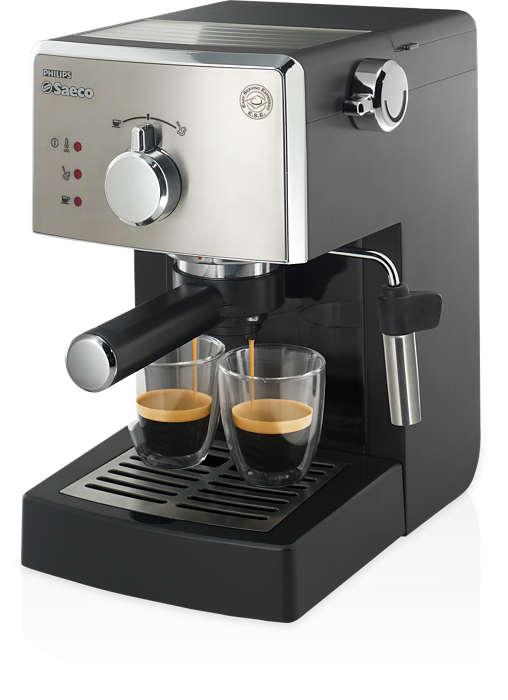Un espresso italien authentique tous les jours