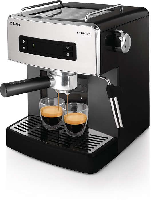 Manuálny espresso kávovar s jednoduchým používaním