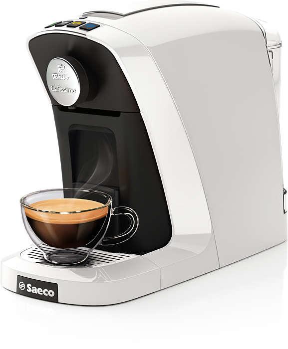 Doskonała kawa z kapsułki Cafissimo za jednym dotknięciem