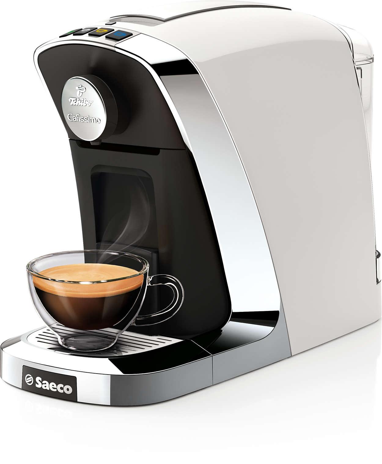 Perfekter Kaffee aus der Cafissimo Kapsel mit einem Knopfdruck