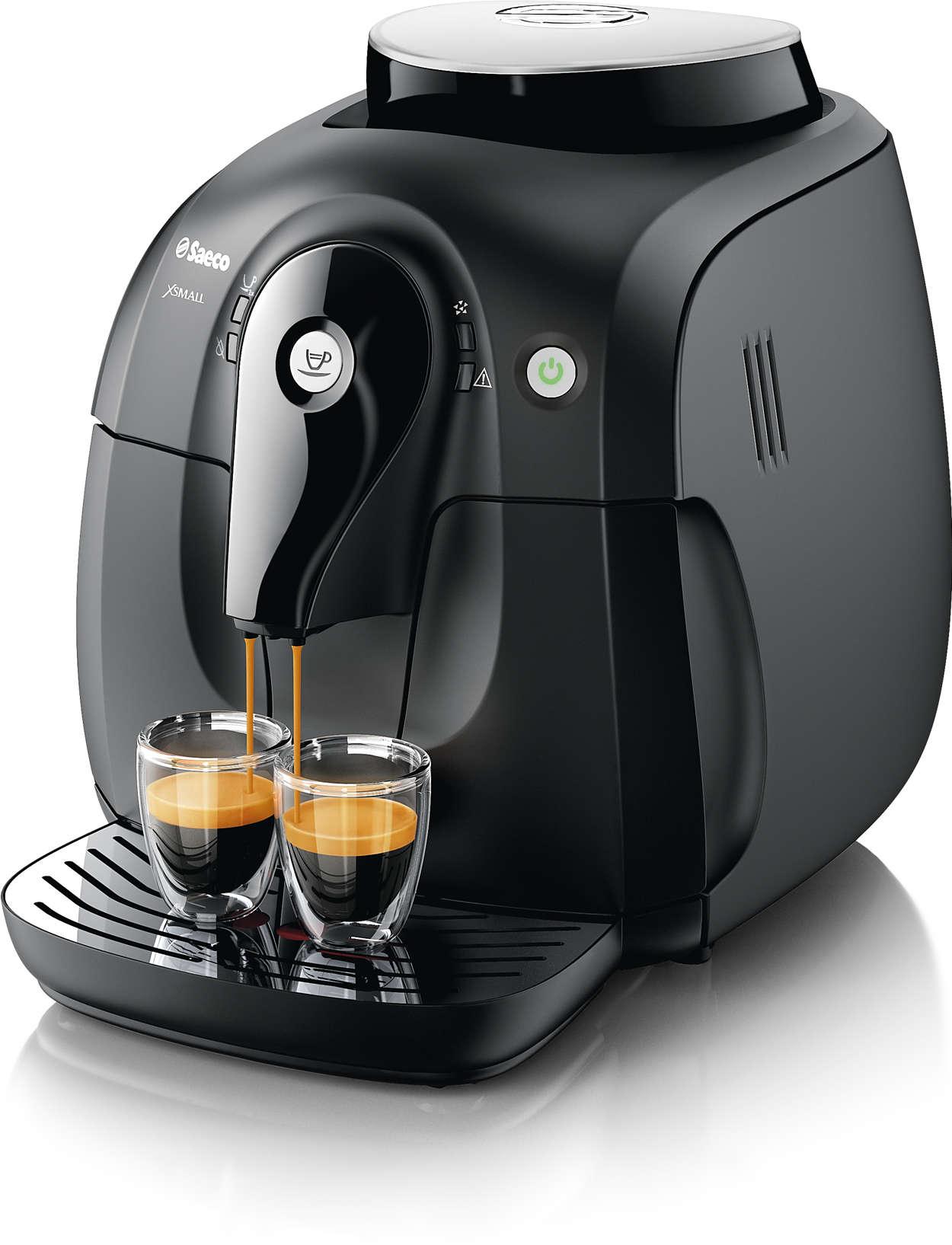 Erleben Sie das Aroma der Kaffeebohnen Ihres Lieblingskaffees.