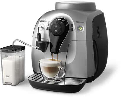 Geweldige cappuccino, kleine machine