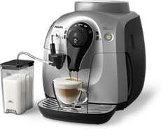 Automatisk espressomaskin för fyra drycker