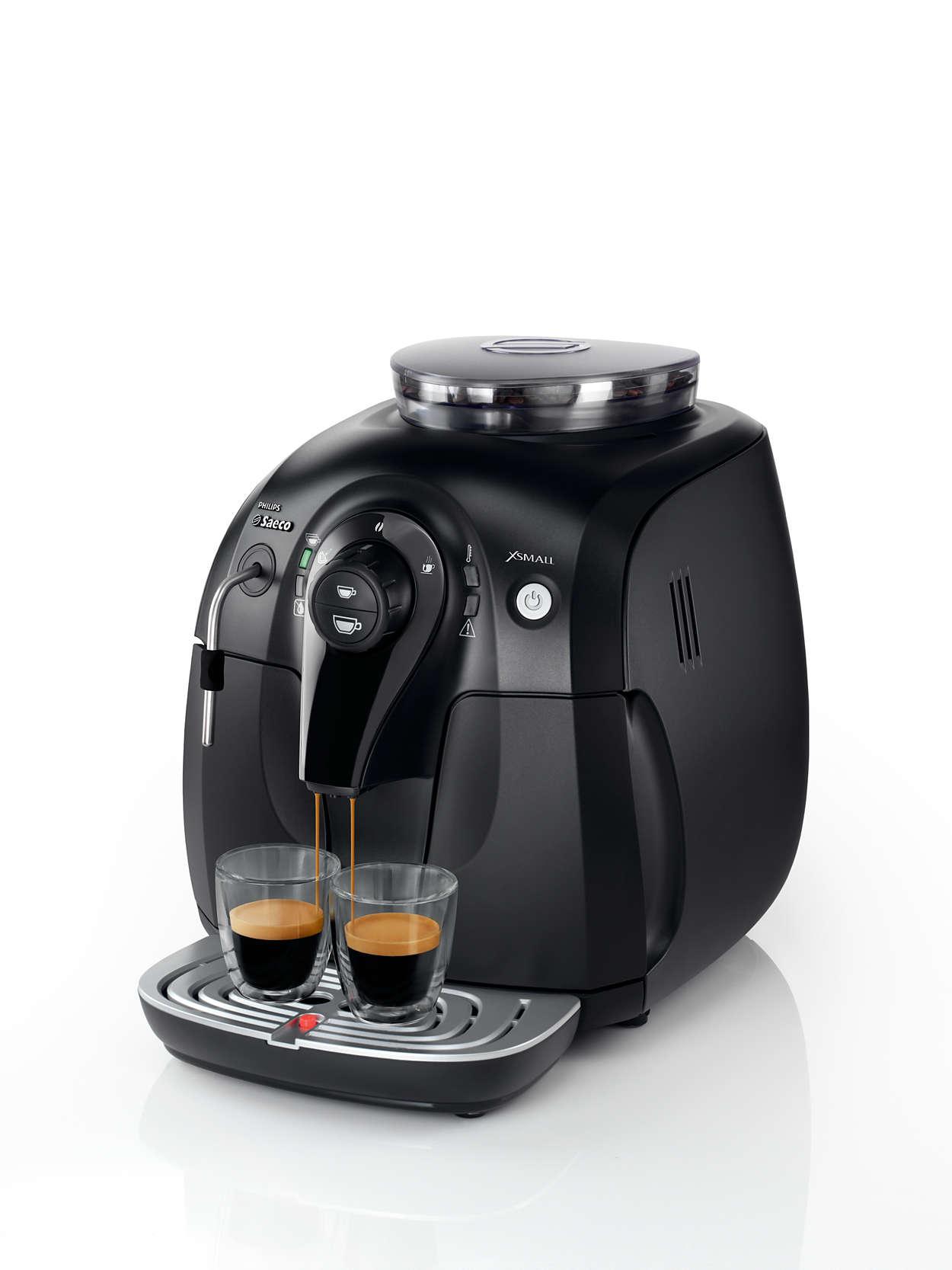 xsmall machine espresso super automatique hd8743 11 saeco. Black Bedroom Furniture Sets. Home Design Ideas
