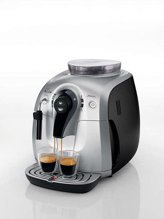 Erleben Sie das Aroma frisch gemahlener Kaffeebohnen.