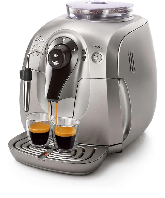 Xsmall Super Automatic Espresso Machine Hd8745 57 Saeco