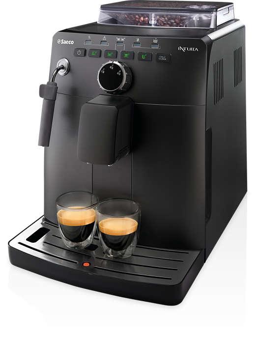 Espresso aus frischen Bohnen