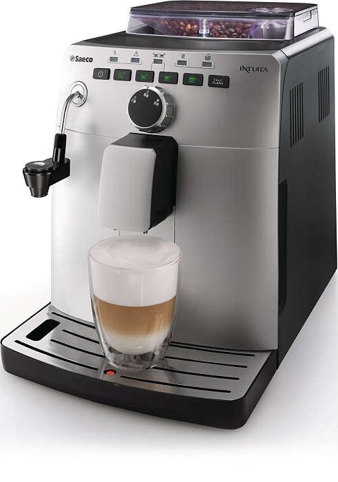 Espresso et cappuccino à partir de grains de café frais