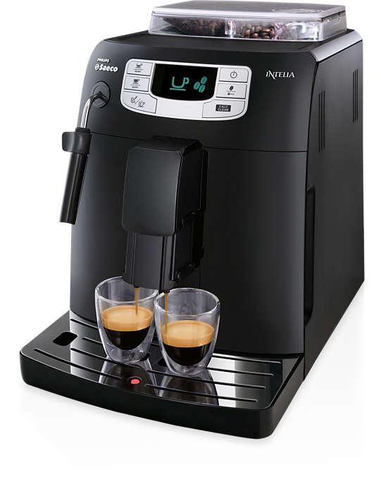 원터치로 추출되는 에스프레소 및 커피