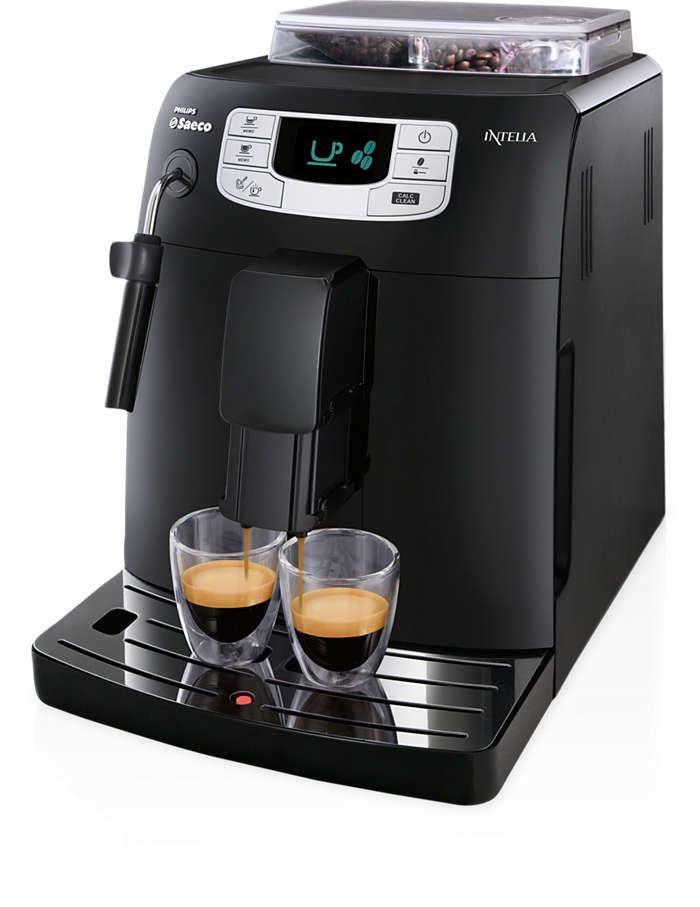 單鍵製作義式咖啡與淡咖啡