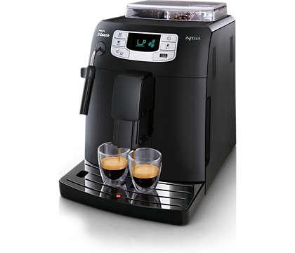 Espresso y capuchino con un solo toque