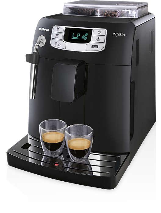 Espresso en koffie met één druk op de knop