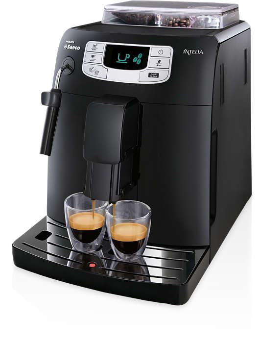 Expresso e café com um único toque