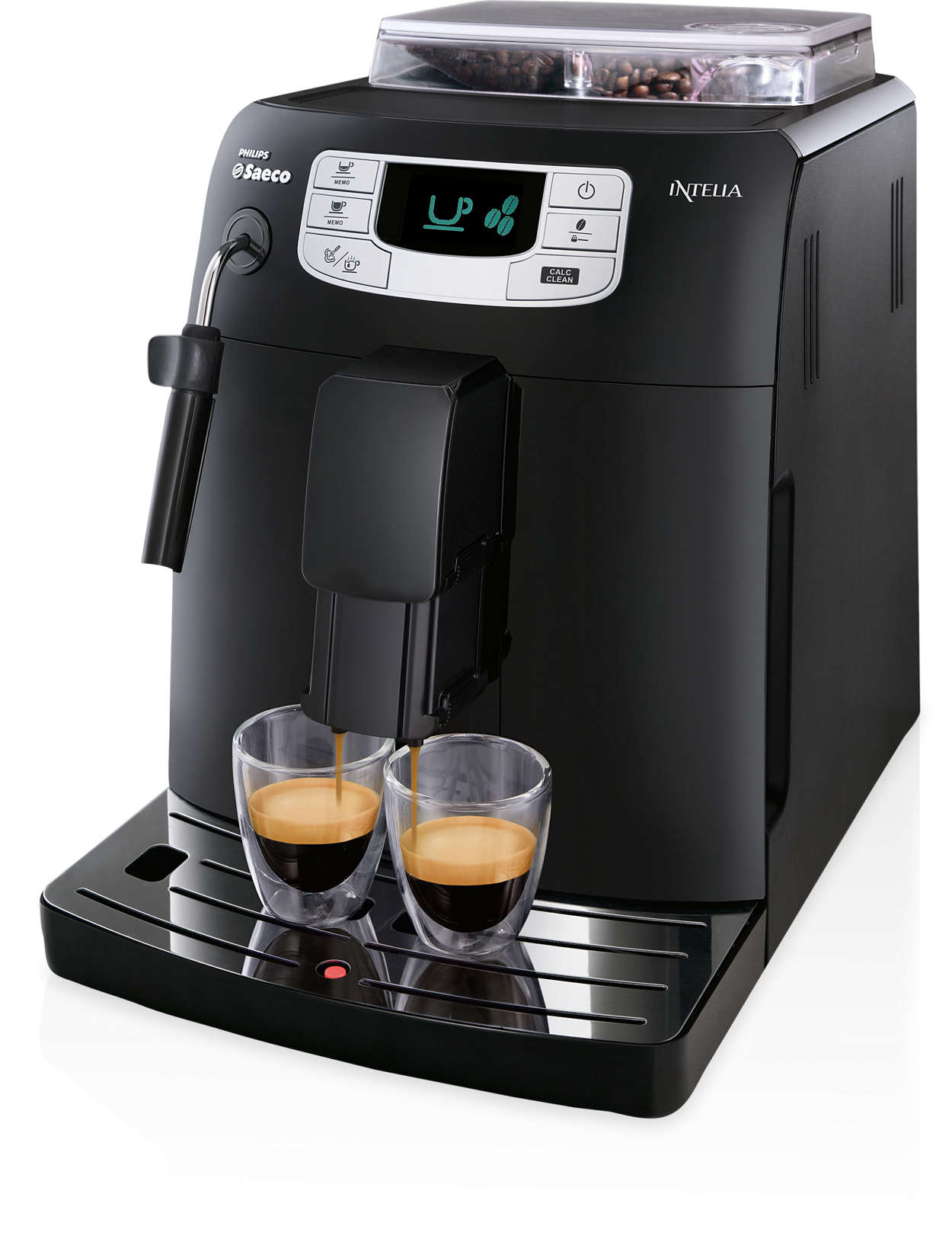 intelia super automatic espresso machine hd8751 47 saeco. Black Bedroom Furniture Sets. Home Design Ideas