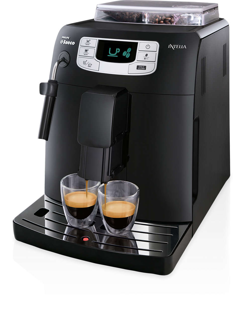 One-touch espresso and coffee