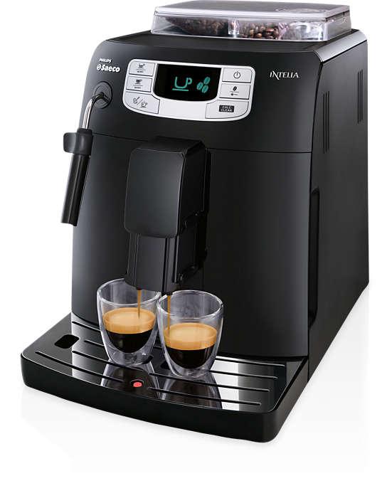 一按即可享用特濃咖啡及淡咖啡