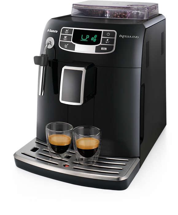Espresso und normaler Kaffee auf Knopfdruck
