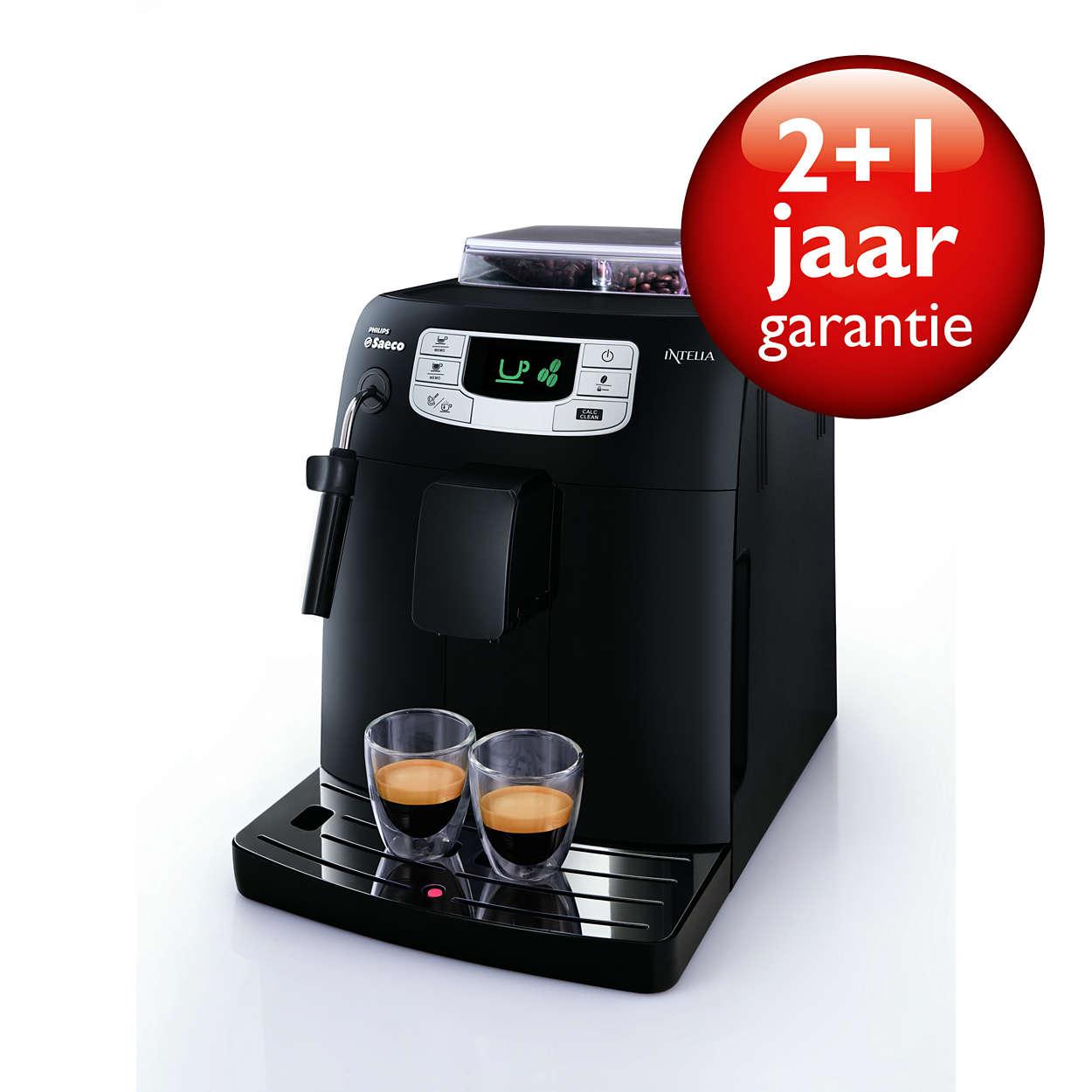 Espresso et café à la simple pression d'un bouton