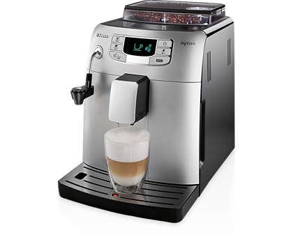 Espresso in kava s pritiskom na gumb