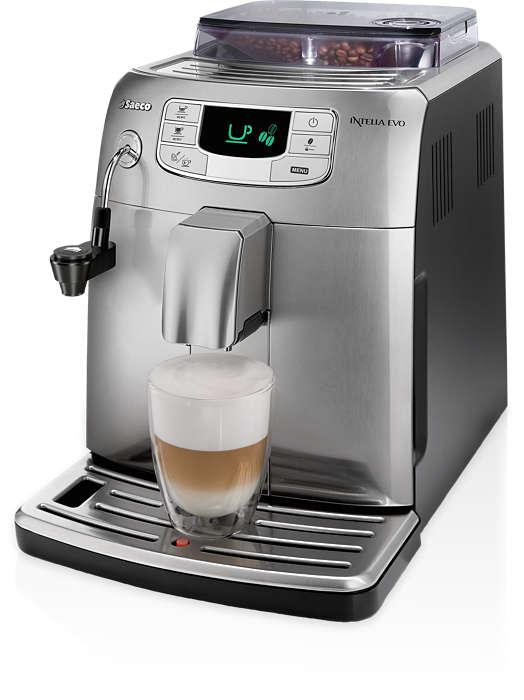 Espresso a mliečna pena jedným dotykom