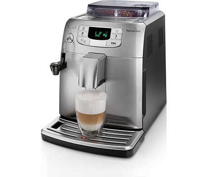 Espresso şi spumă de lapte printr-o singură atingere