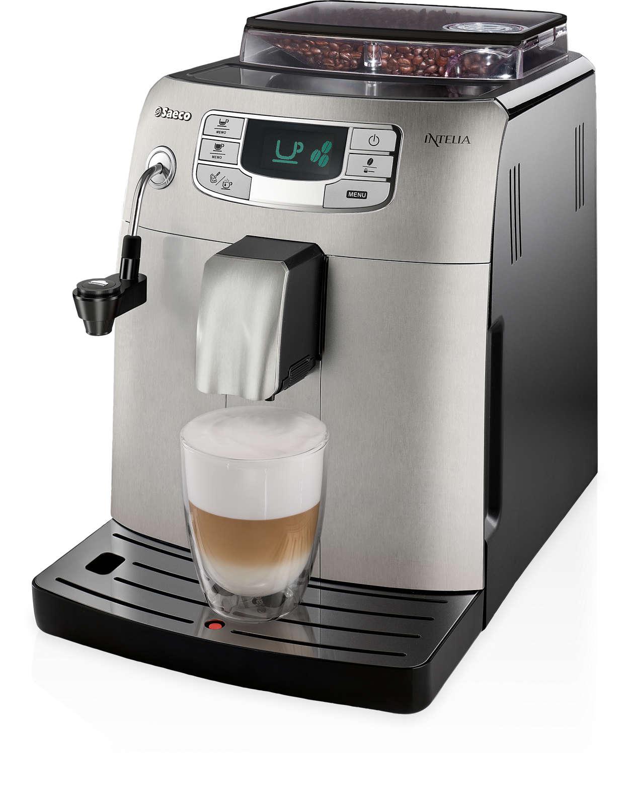 Espresso et mousse de lait d'une simple touche
