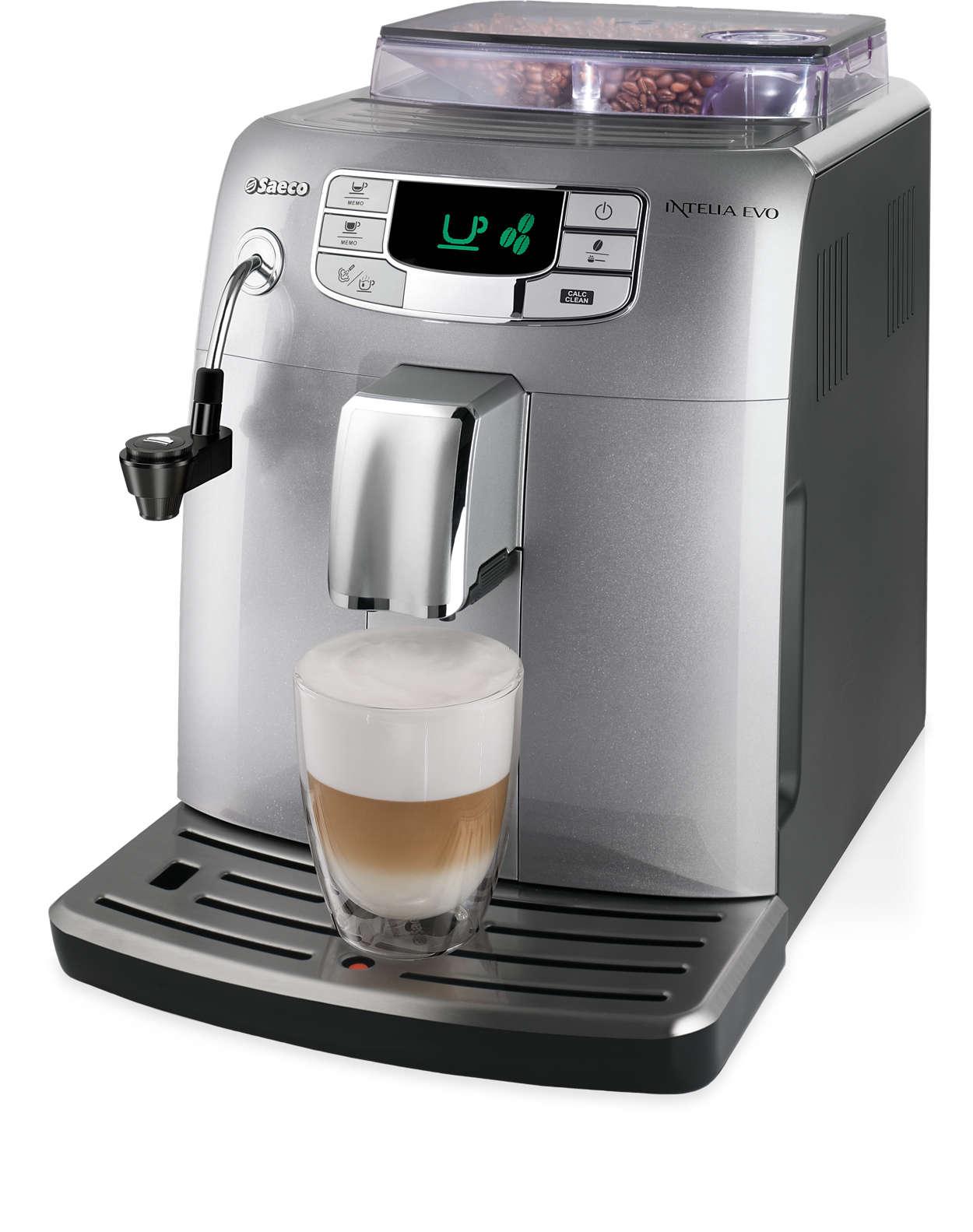 Café expresso e espuma de leite com um só toque