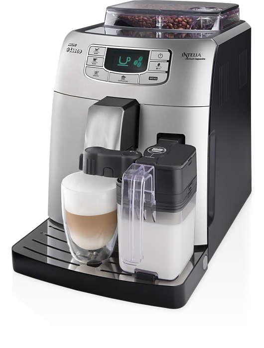 單鍵製作義式咖啡和卡布其諾