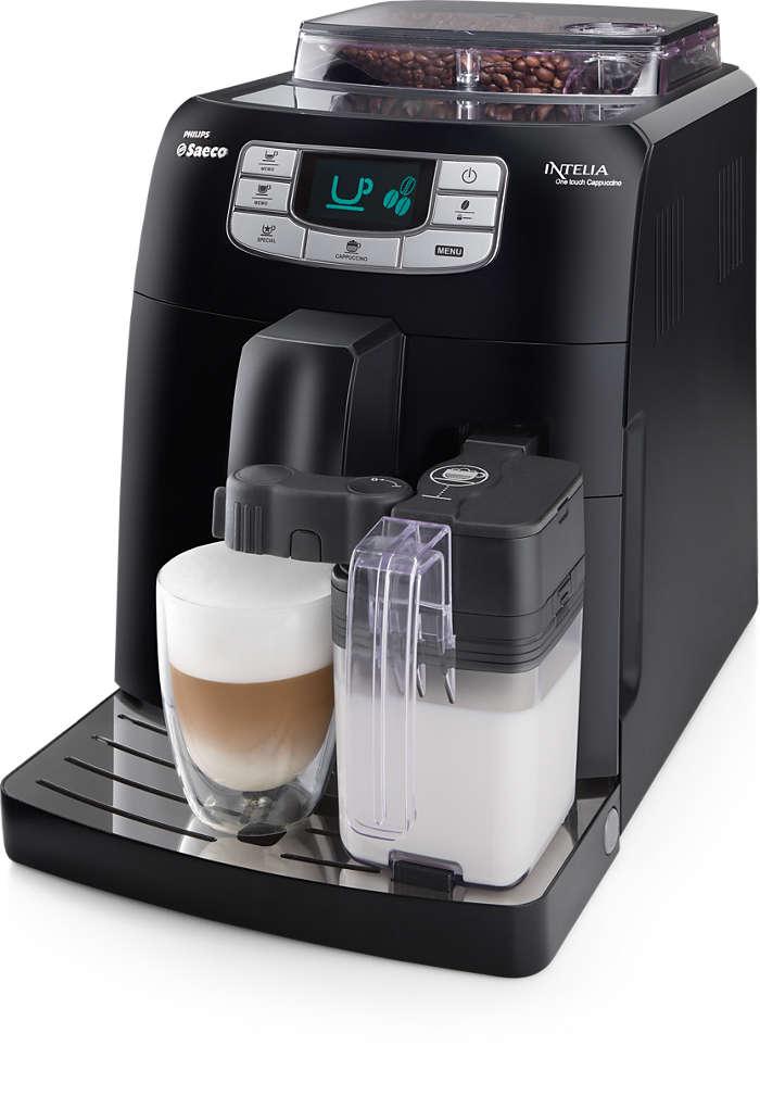 Espresso in un tocco e cappuccino