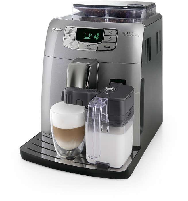 Espresso a cappuccino stisknutím tlačítka