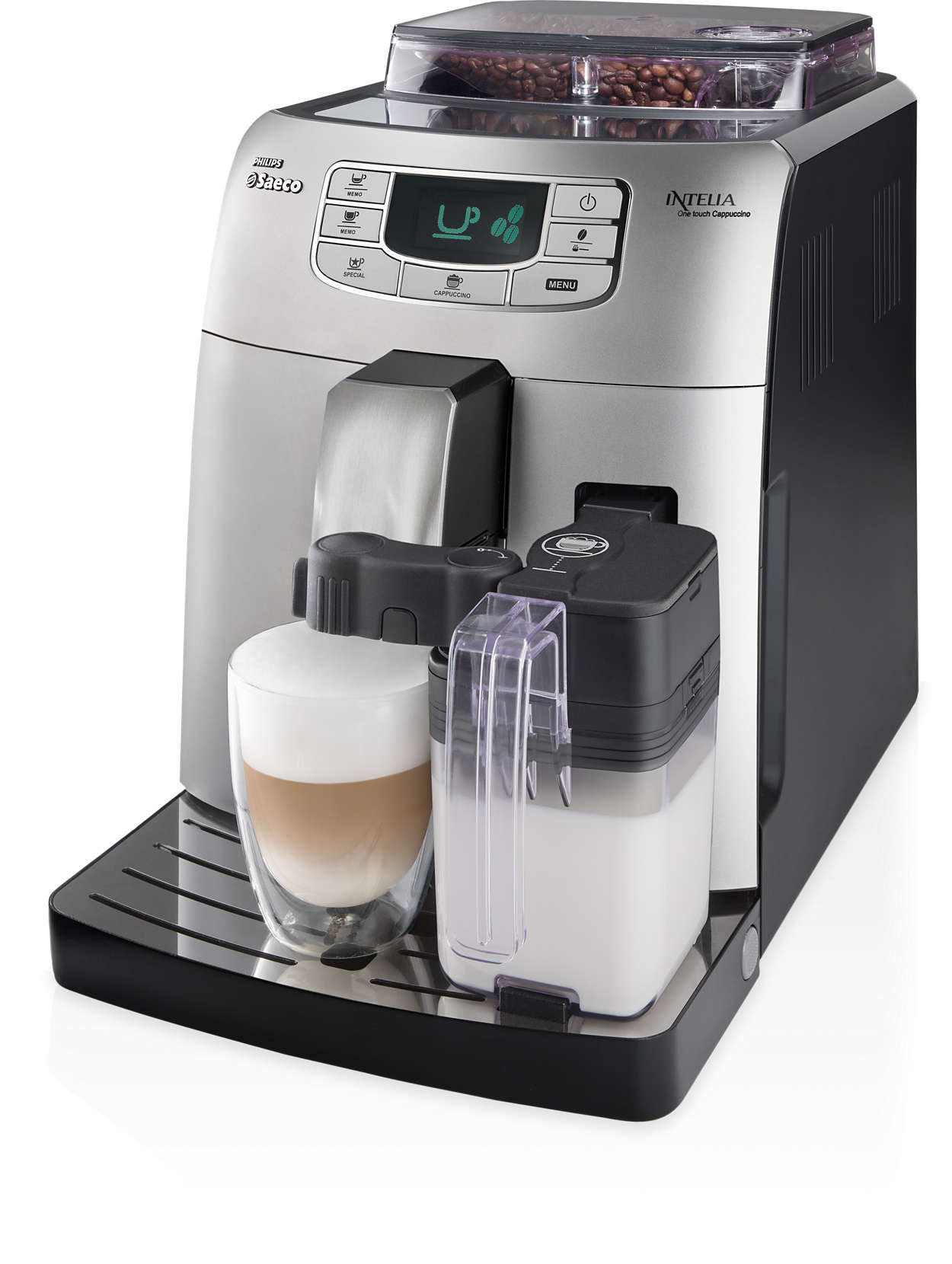 Espresso en cappuccino met één druk op de knop