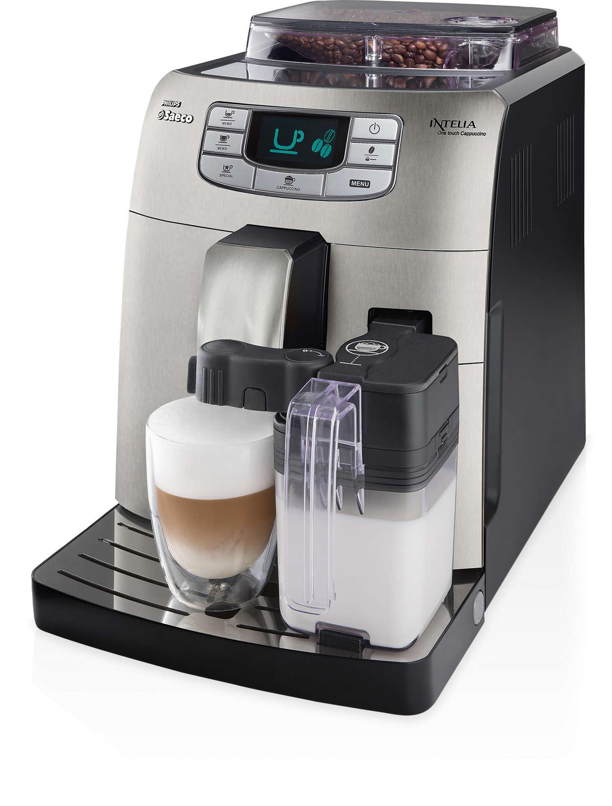 Café espresso y cappuccino, solo pulsando un botón