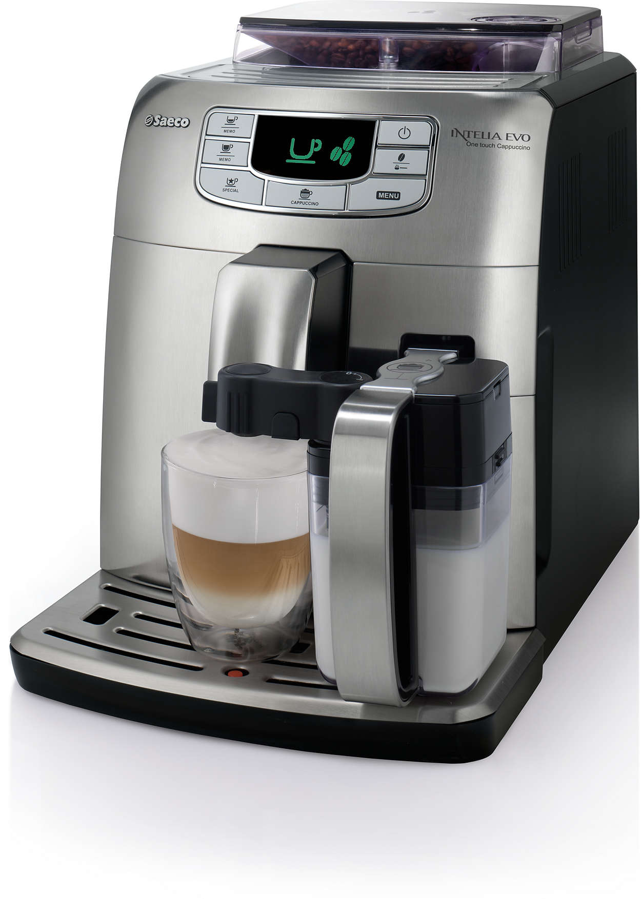 intelia evo super automatic espresso machine hd8753 92 saeco. Black Bedroom Furniture Sets. Home Design Ideas