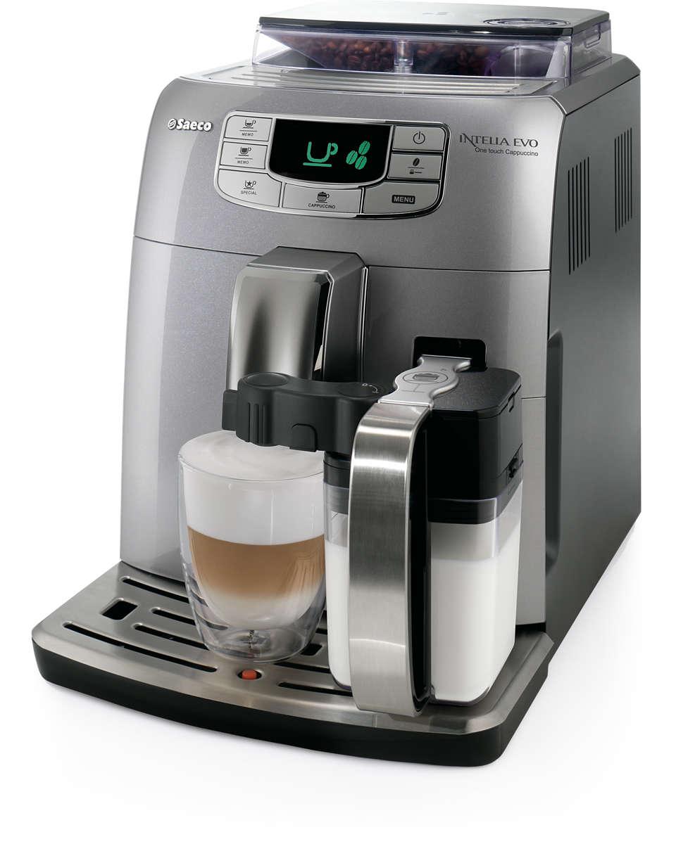 Espresso y cappuccino con un solo toque