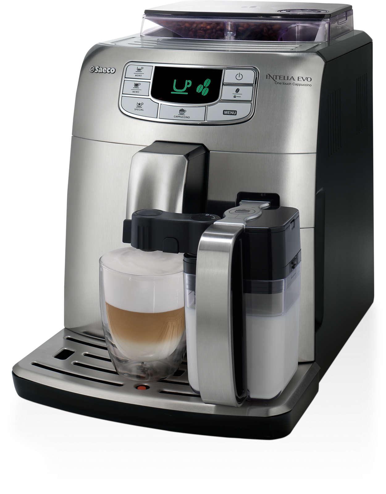 Espresso a cappuccino jedným dotykom